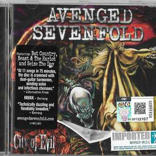 A7X Avenged Sevenfold City of Evil Imported CD