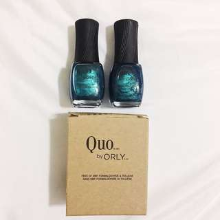 Blue Nail Polish from Quo (2 in 1 box)