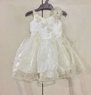 Dainty Ivory Dress for Baby Girl