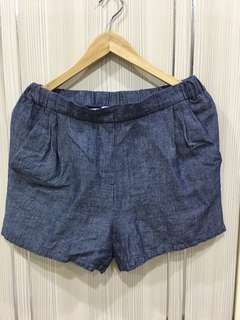專櫃棉麻短褲