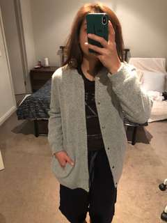 MINKPINK cozy grey knit cardigan