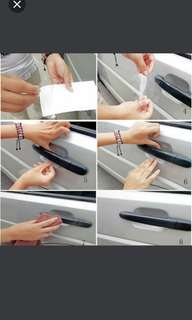 DIY 4pcs Car door handle sticker anti scratch cup type protection film #ramadan50