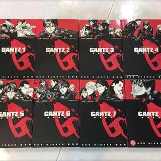 GANTZ Japan Manga Vol 1-8 Taiwan Version