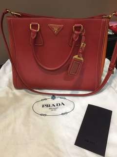 Authentic limited edition Saffiano Lux Prada bag