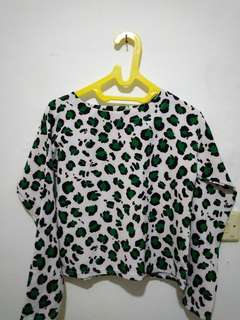 Leopard Crop top