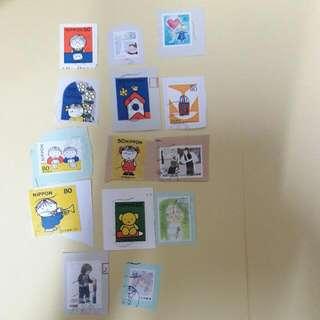 日本信銷郵票 合共14張