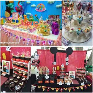 Party decoration/ Birthday / wedding /corporate event dessert table or snack bar