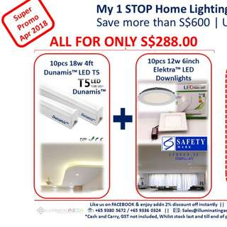 LED Lights new homes Promo Relaunch save $600 w $30 vouchers
