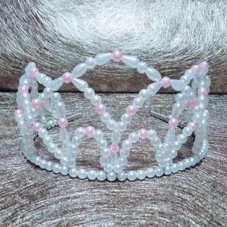 Princess Bride To Be Birthday Handmade Pearl Tiara Crown Wedding Prop
