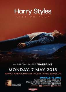 Selling: 1 Lowerbox A (LBA) Ticket for Harry Styles in Manila