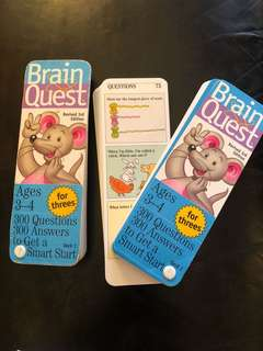 Pre-loved BRAIN QUEST (Ages 3-4)