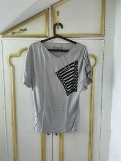 Grey Folded & Hung top