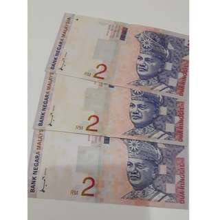 (NEW) RM2 Malaysian Old Notes (very rare)