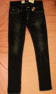 日本MOUSSY 全新真品深藍牛仔褲