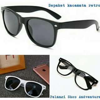 Kacamata retro style isi 3pc