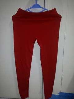 ON SALE!! Red Leggings