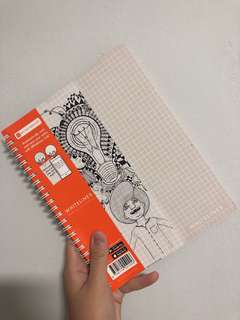 white lines notebook
