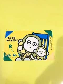 Sanrio Monkichi 猴子日本電話咭