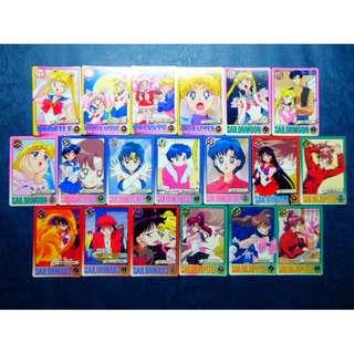 Sailor Moon 美少女戰士 剪影 6,激鬥6 - 港版白卡,咭 - Full Set 38 張, 38白