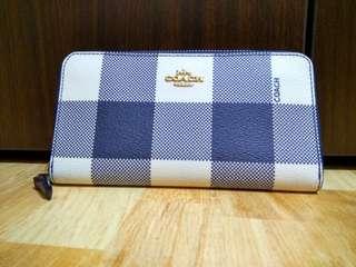 🎀 Coach F25966 Buffalo Midnight Multiplaid Accordiin Zip Around Wallet