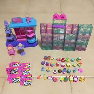 All For $50 - Authentic Shopkins world vacation Europe.  Include oh la la macaron cafe. And 33pcs Shopkins