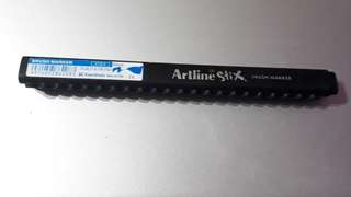 Artline Stix black brush marker