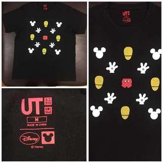 UNIQLO Disney 黑色純棉圖T(size:M)