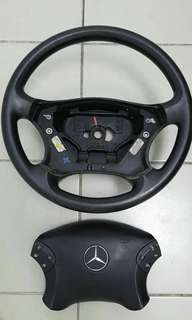Steering Mercedes full rubber W203
