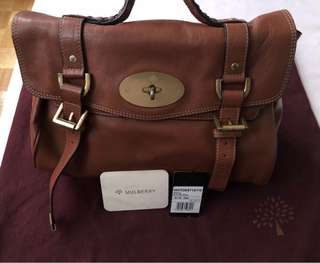 Authentic MULBERRY Alexa Soft Buffalo in Oak - good used condition (PLEASE READ BELOW)