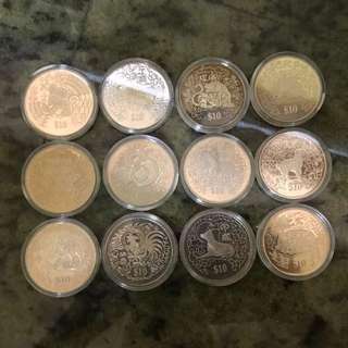 Zodiac Coin Set