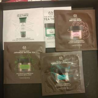 The Body Shop Mask Samples