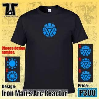 Iron Man Arc Reactor Black T-Shirt