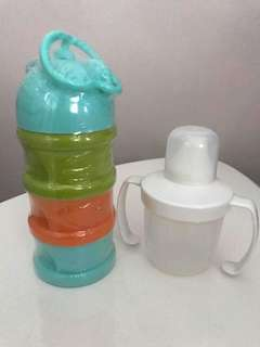 Milk Powder Container + drinking bottle
