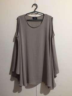 Elegant Dress or blouse like cape dress