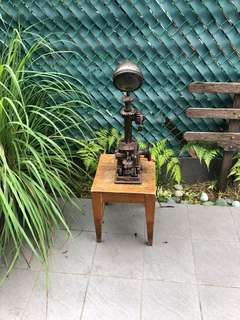 Vintage cast iron lamp