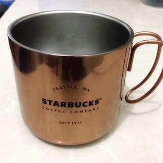 Starbucks Vintage-Like Gold Mug