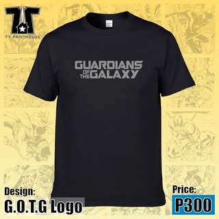 Guardians of The Galaxy Logo Black T-Shirt