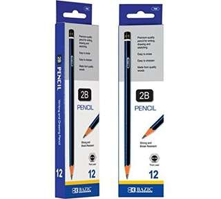 🆕 BAZIC 2B Premium Wood Pencil (12/Pack)