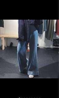 超長腿喇叭寬褲 闊腿褲