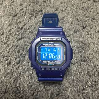 CASIO G-SHOCK DW-5600 全藍色 二手 九成新