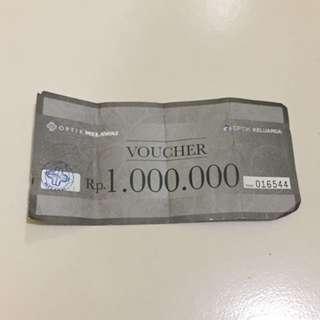 Voucher Optik Melawai Rp. 1.000.000
