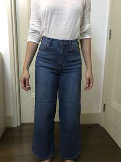 Uniqlo High Waist Blue Jeans