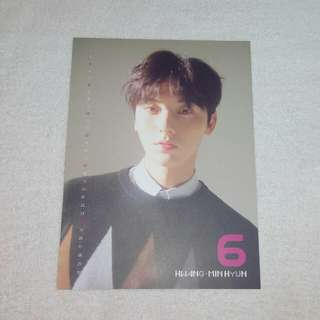 Wanna One Nothing Without You Minhyun Calendar Card