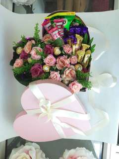 Flower and Chocolate in Box
