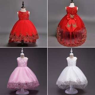 [PRE-ORDER] Kids Baby Girls Bow Princess Dress For Girls Party  Wedding