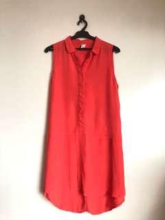 Forever21 Orange Flowy Dress