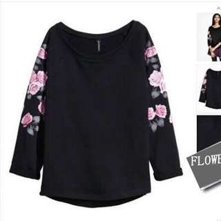 H&M Floral Pullover
