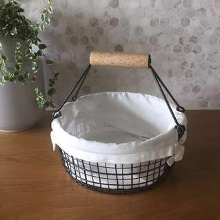 Rustic CRATE & BARREL Fruit Basket