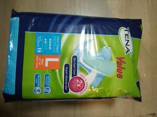 Tena Adult Diapers - L size