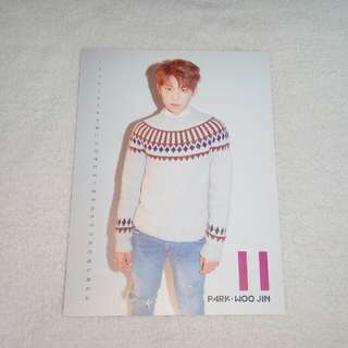 Wanna One Nothing Without You Woojin Calendar Card